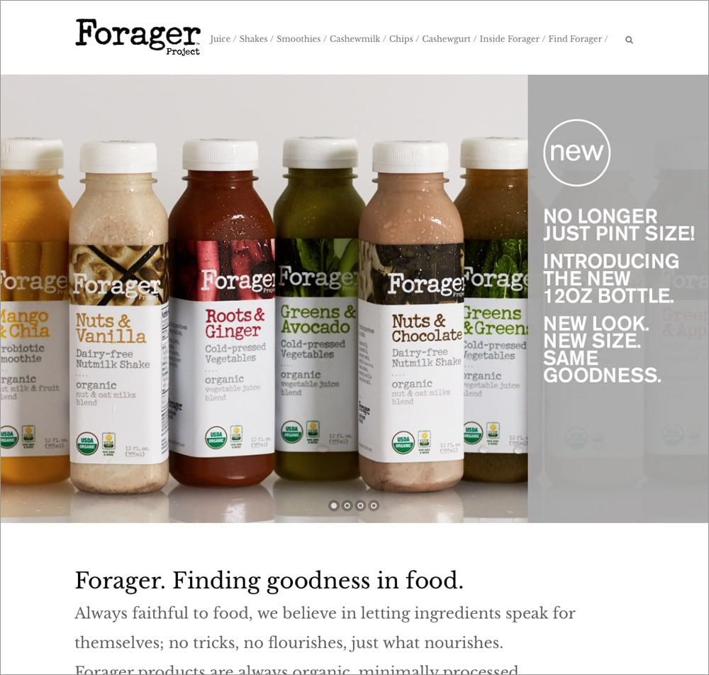 Forager Project - homepage