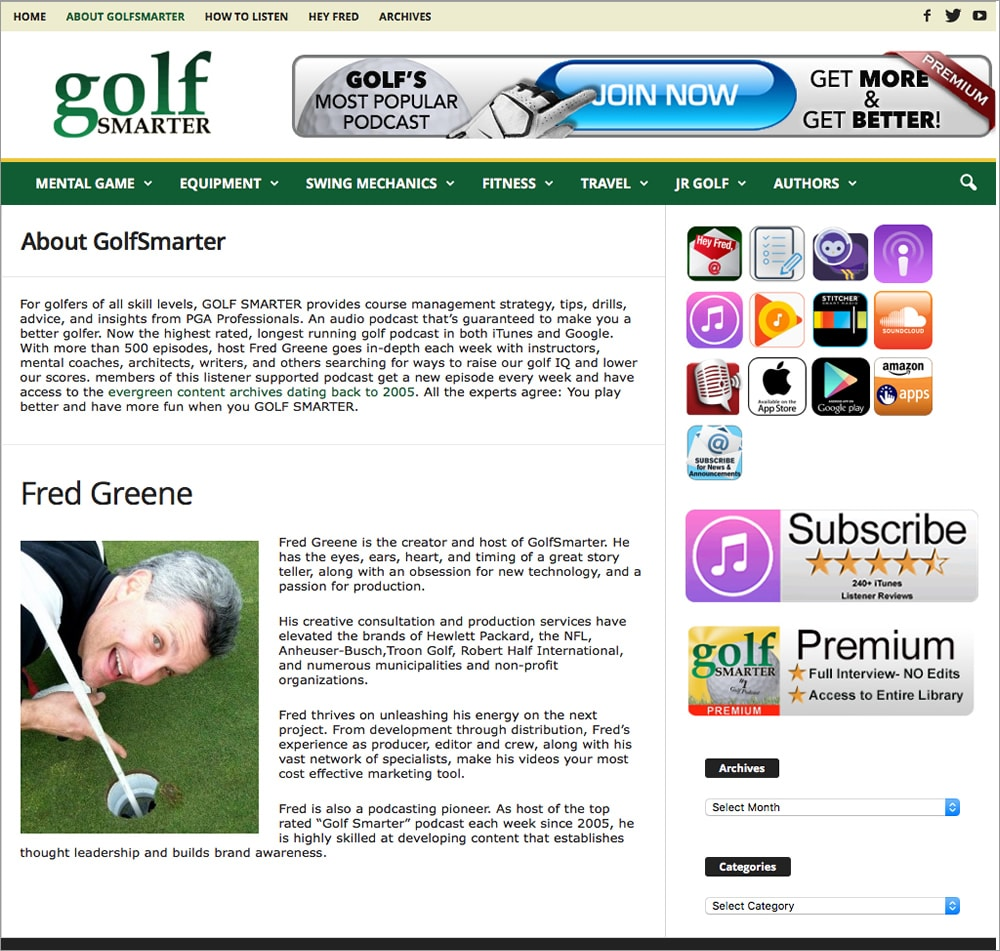 Golf Smarter About