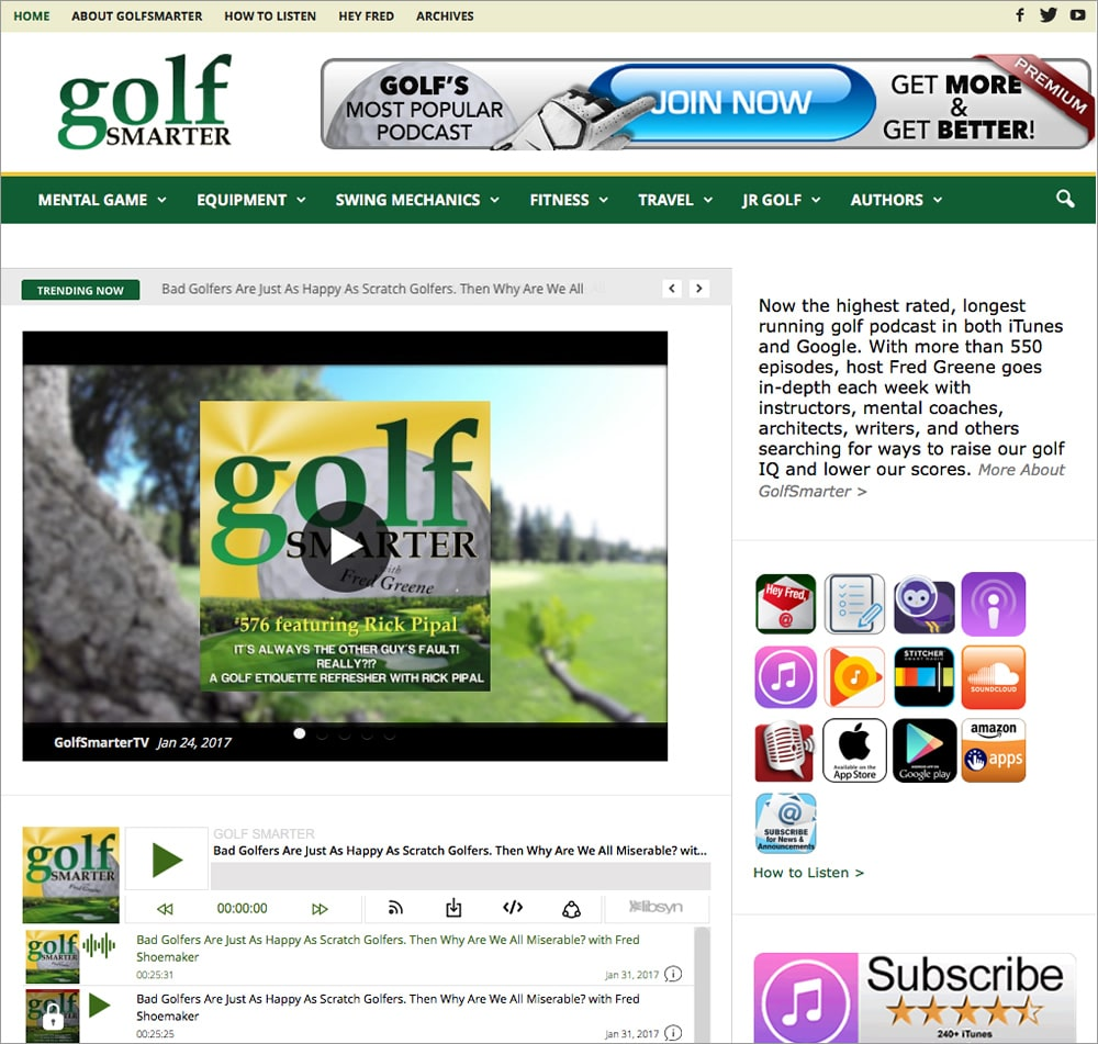 Golf Smarter Homepage