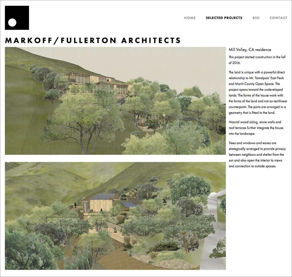 Markoff-Fullerton Architects Mill Valley Project