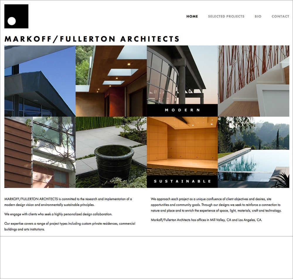 Markoff-Fullerton Architects Homepage