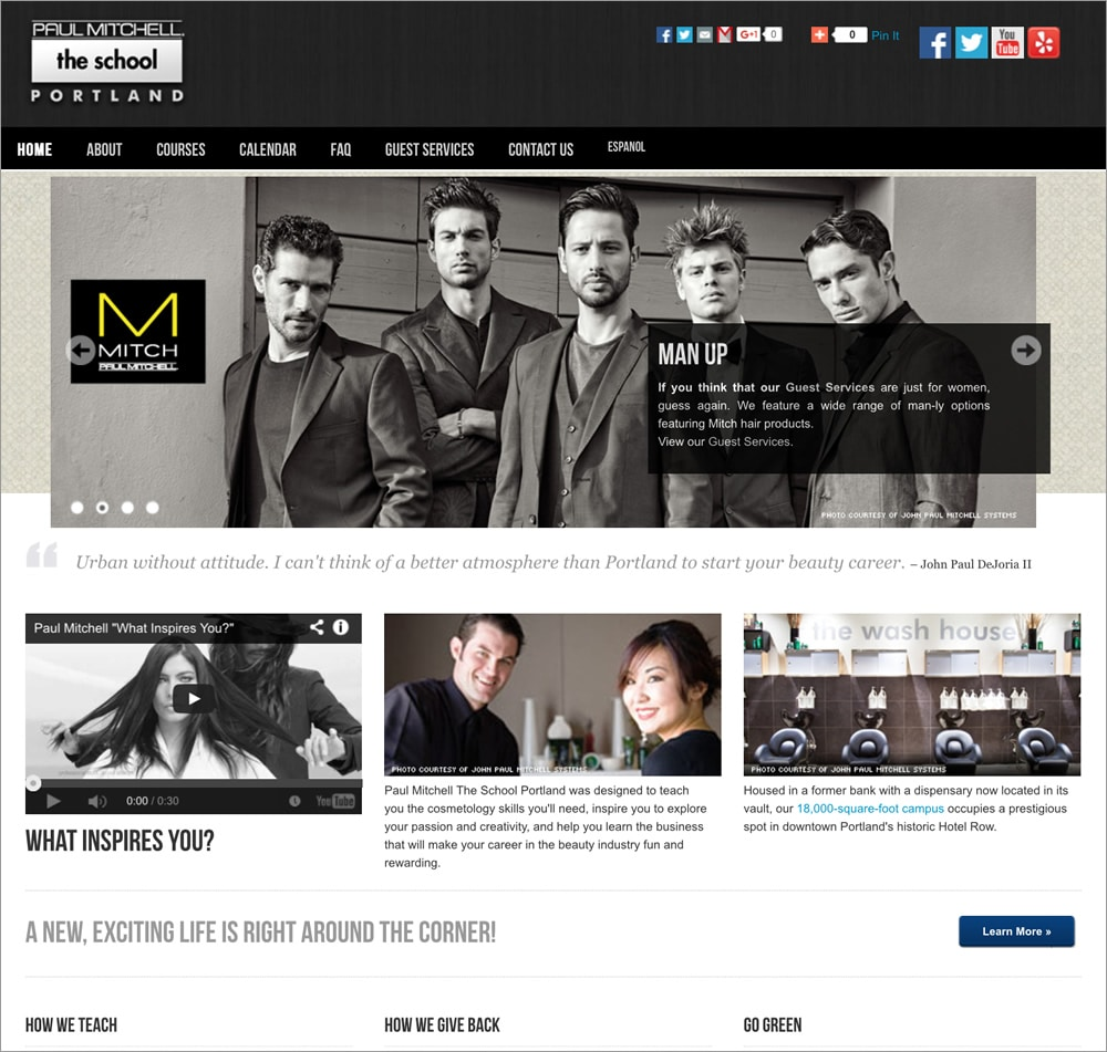 Paul Mitchell The School Homepage