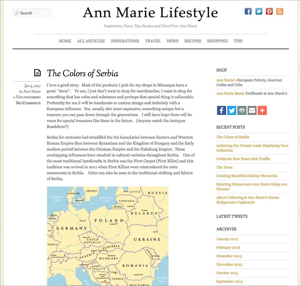 Ann Marie - Lifestyle Blog