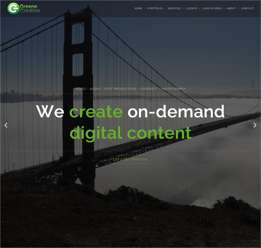 Greene Creative - Homepage