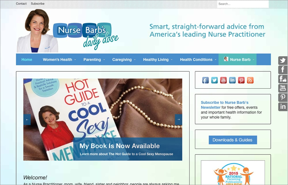 Nurse Barb Website & Blog