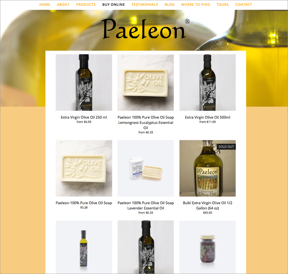 Paeleon Olive Oil -Store
