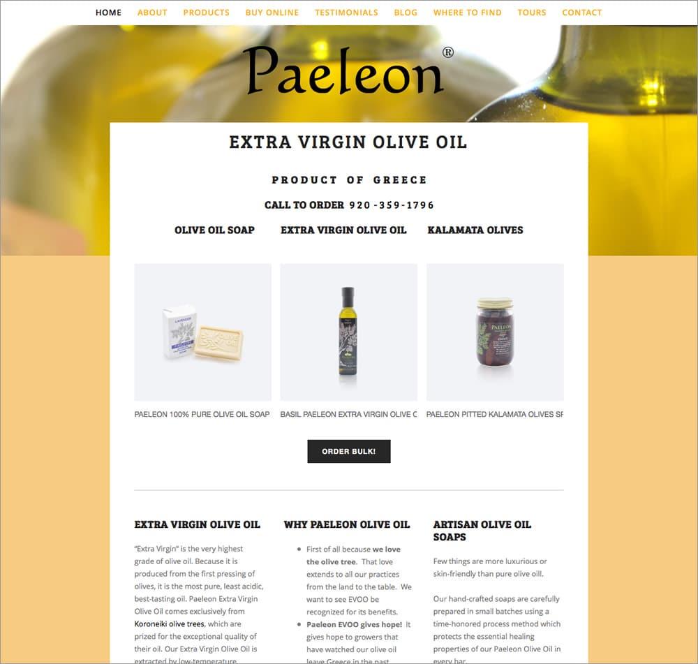 Paeleon Olive Oil - Home