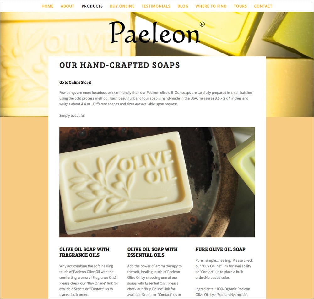 Paeleon Olive Oil - Soap