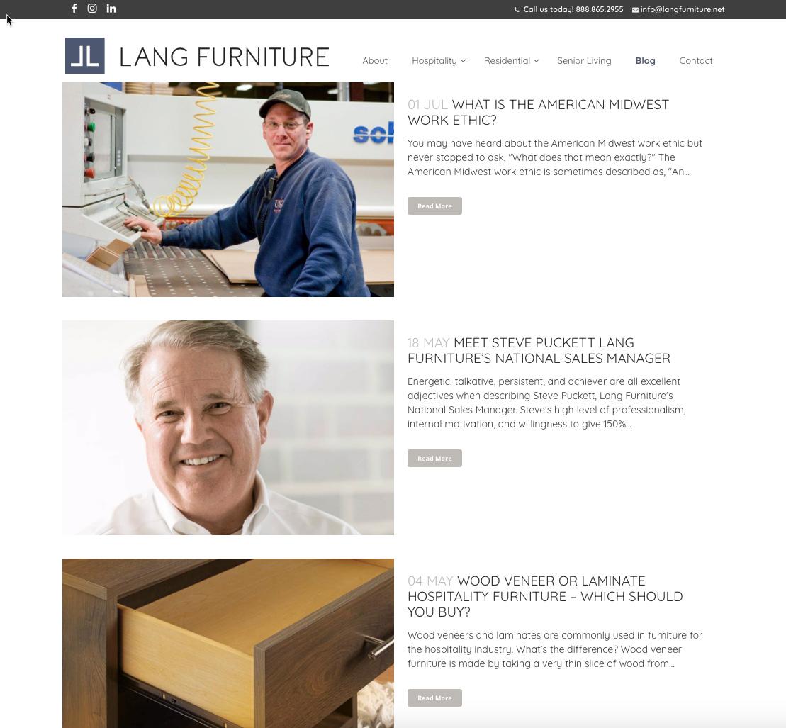 Lang Furniture Blog