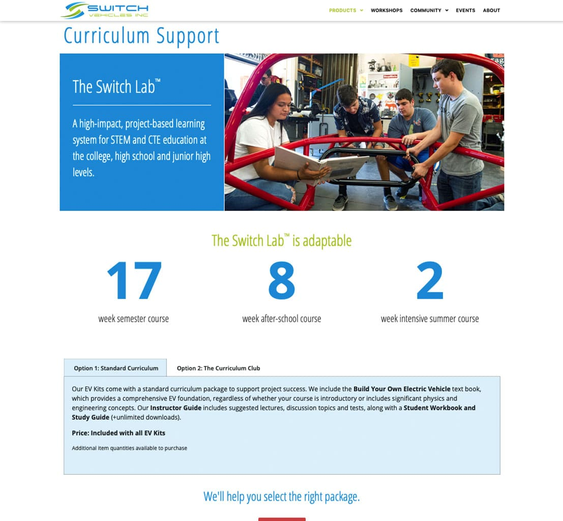 The Switch Lab Curriculum Page