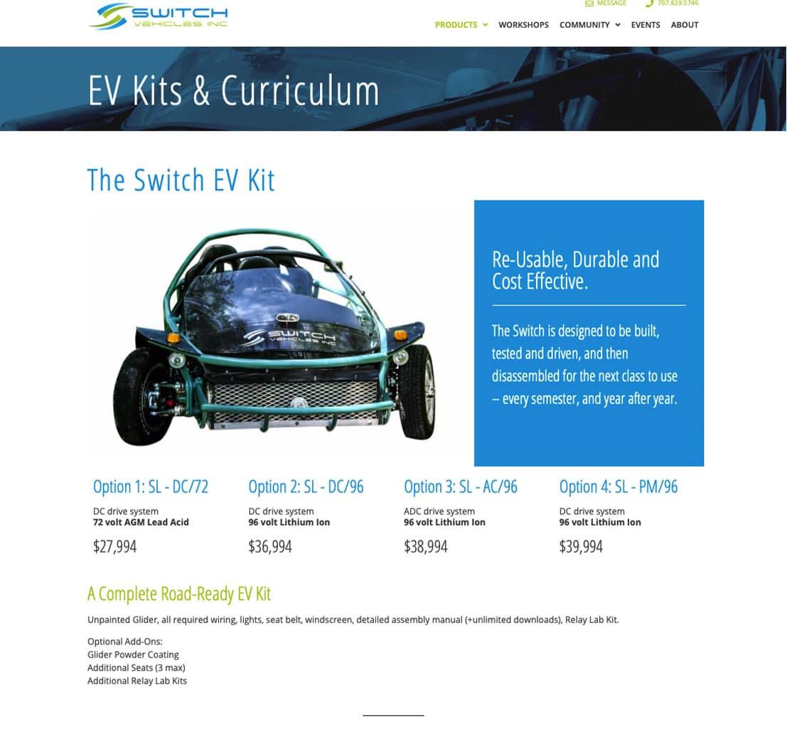 The Switch Lab EV Kits Page